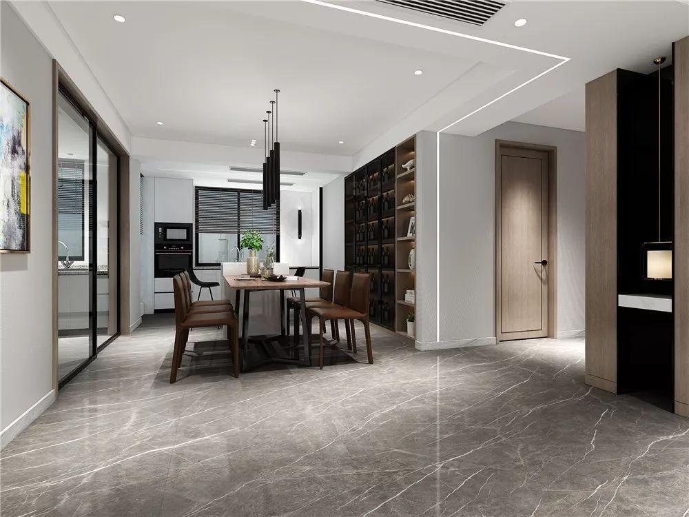 新濠大理石瓷砖750*1500mm系列产品及装修效果图