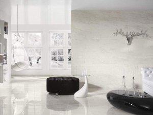 白色瓷砖引领风尚 客厅瓷砖铺贴效果图