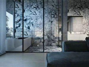 艺术风格卫浴空间 瓷砖铺贴效果图