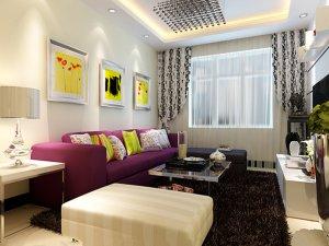 一居室现代简约风格瓷砖装修效果图