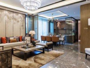 147平中式现代风格瓷砖设计 华丽家居装修