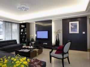 客厅瓷砖装修效果图 宽敞时尚