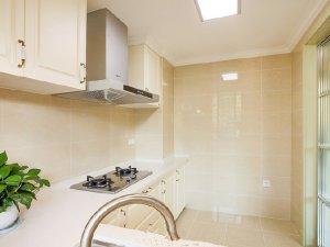 厨房瓷砖效果图 米色瓷砖铺贴装修效果图