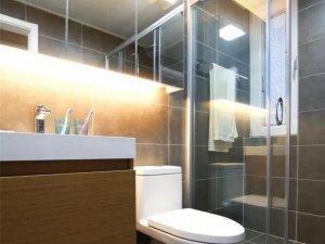 北欧风格卫浴间瓷砖装修效果图 灰色瓷砖装修效果图