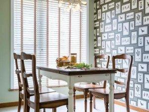 美式风格餐厅瓷砖装修效果图 复古瓷砖效果图图片
