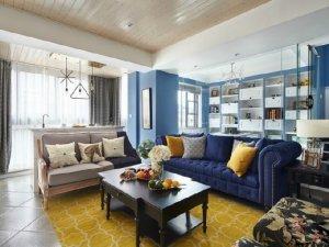 混搭风格客厅瓷砖装修效果图 田园风瓷砖效果图