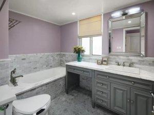 美式风格瓷砖图片 灰色卫生间瓷砖装修效果图