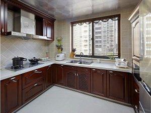 新中式风格瓷砖图片 灰色厨房瓷砖装修效果图