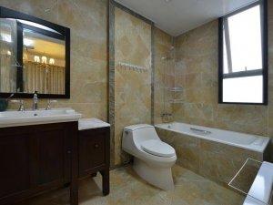 新中式风格瓷砖图片 米色卫生间瓷砖装修效果图
