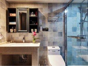 美式风格瓷砖图片 卫生间仿古砖装修效果图