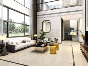 卡米亚现代简约风格瓷砖铺贴效果图