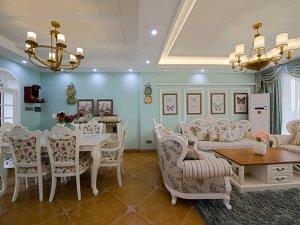 地中海风格瓷砖图片 橙黄色卫生间瓷砖装修效果图