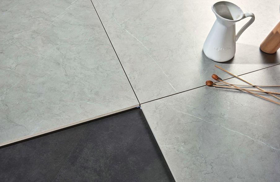 恒福16°水墨原石产品展示 灰色瓷砖装修效果图