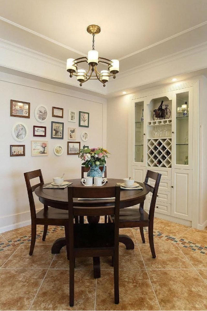 混搭風格瓷磚圖片 客廳棕色地磚裝修效果圖
