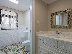 美式风格瓷砖图片 卫生间花砖装修效果图