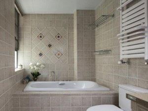 现代简约风格瓷砖图片 卫生间仿古墙砖装修效果图