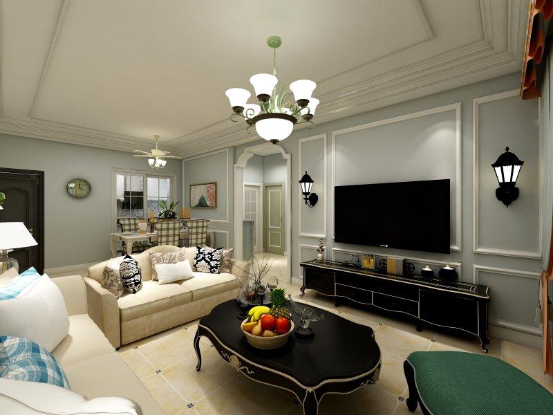 现代简约风格瓷砖图片 厨房灰色花纹砖装修效果图