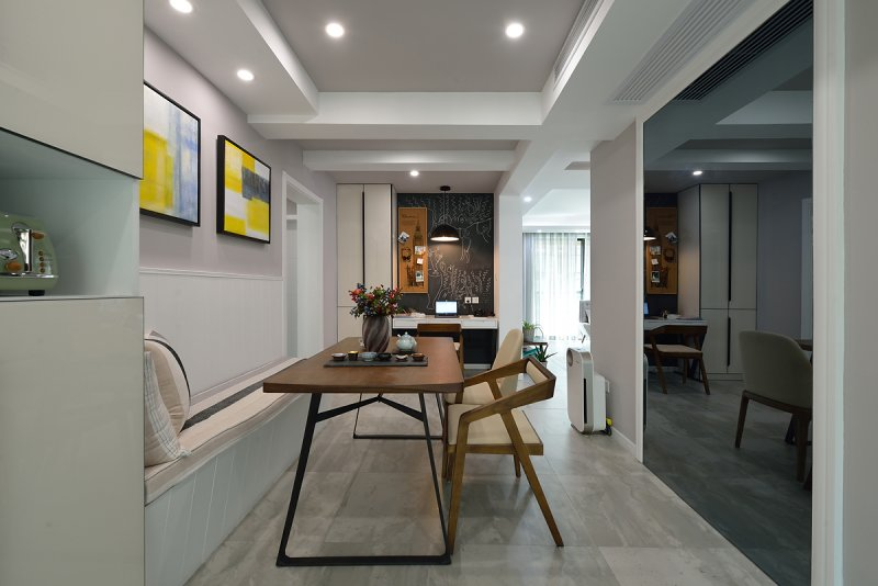 現代簡約風格瓷磚圖片 灰色廚房瓷磚裝修效果圖