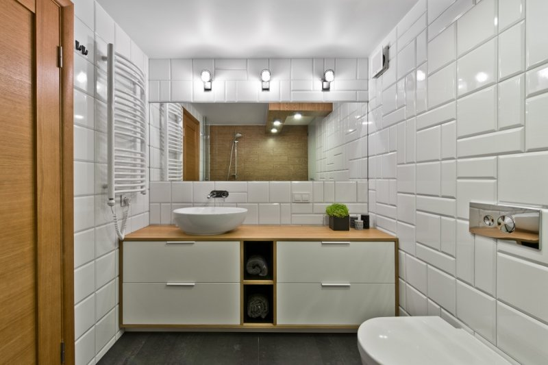 现代简约风格瓷砖图片 厨房白色几何瓷砖装修效果图