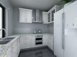 现代简约风格瓷砖图片 厨房淡灰色瓷砖装修效果图
