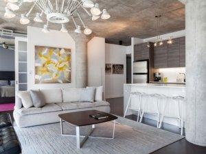 工业风格瓷砖装修效果图 客厅瓷砖装修图
