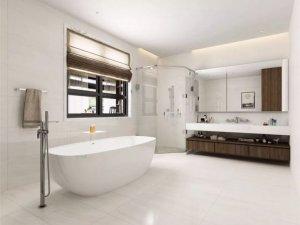 骏程陶瓷现代风格卫生间瓷砖铺贴效果图