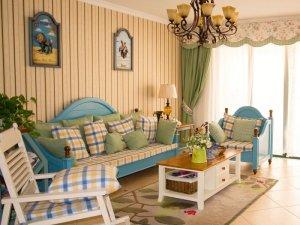地中海风格瓷砖装修图片 客厅黄色瓷砖装修效果图