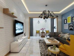 北欧风格瓷砖装修效果图 客厅白色瓷砖装修图片