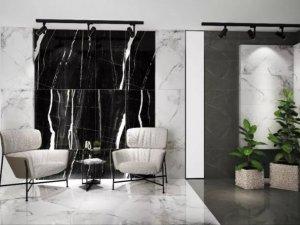 美陶瓷砖图片黑白灰系列 大理石瓷砖装修效果图
