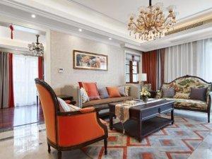 新中式风格瓷砖装修图片 客厅白色装修效果图