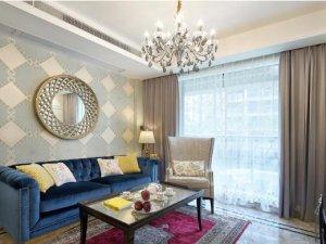 简欧轻奢风格瓷砖装修图片 客厅白色装修效果图