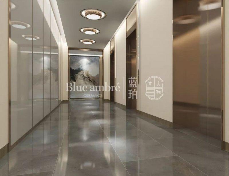 蓝珀瓷砖星河灰 灰色瓷砖装修效果图