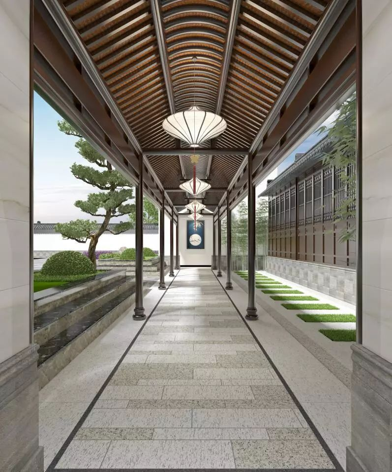 萨米特瓷砖加盟产品 园林砖装修效果图