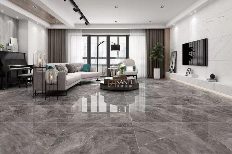 兴辉陶瓷魔石系列 轻奢风格瓷砖装修效果图