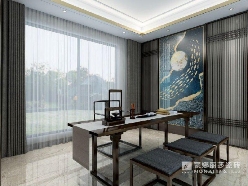 蒙娜麗莎瓷磚圖片 新中式風格陶瓷效果圖