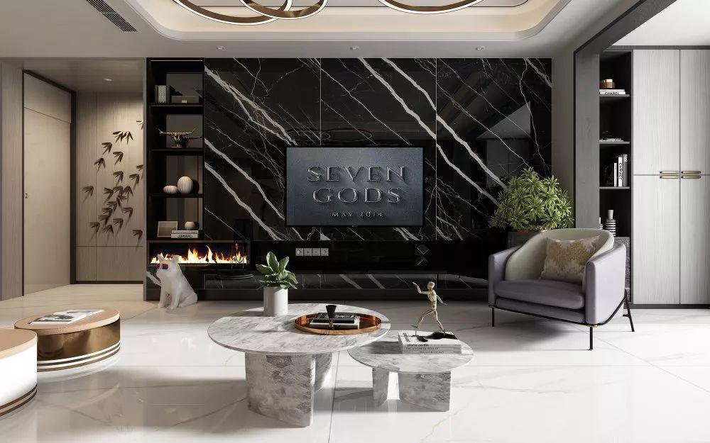新润成瓷砖图片800X2600岩板 北欧风格陶瓷效果图
