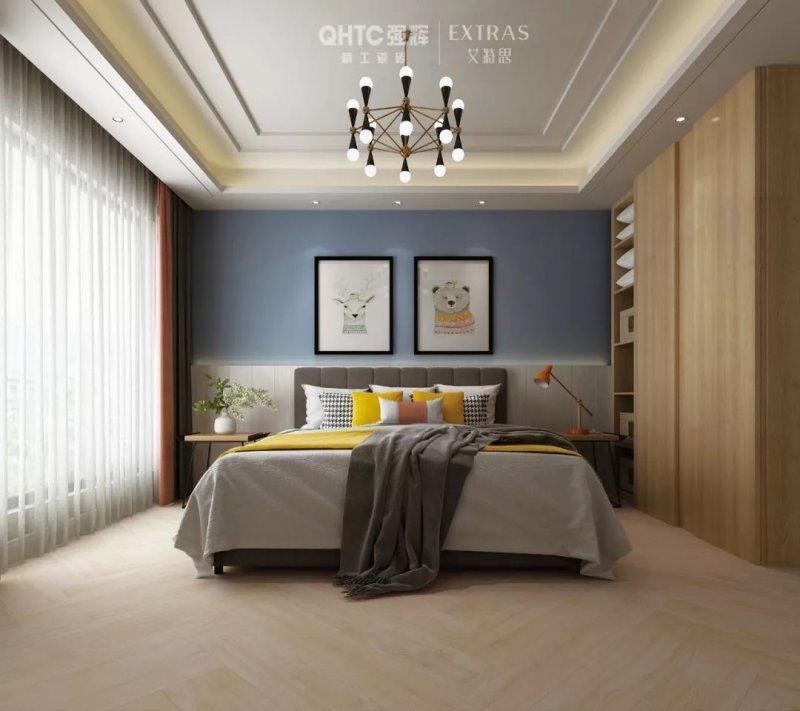强辉陶瓷图片木纹砖系列  新中式风格陶瓷效果图