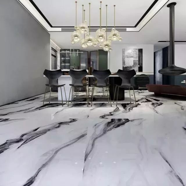博德瓷砖图片生态瓷抛砖熊猫白 新中式风格陶瓷效果图