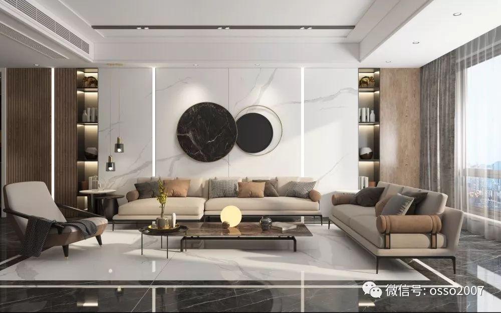 澳翔陶瓷圖片大巖板系列 現代輕奢風格陶瓷效果圖