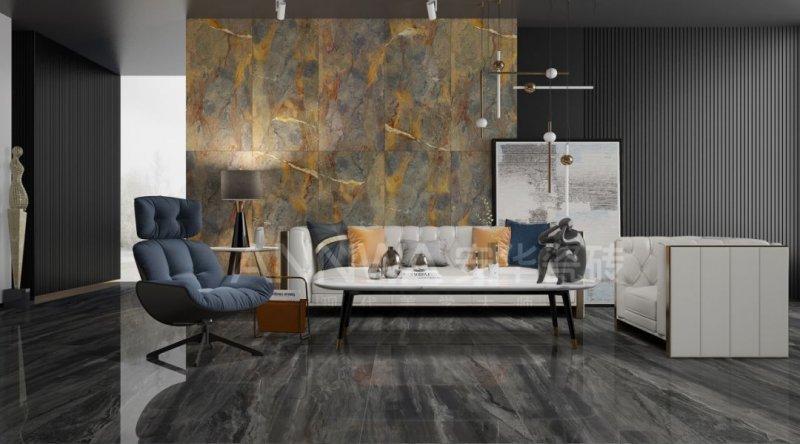 安华瓷砖图片750×1500尼亚棕系列 现代轻奢风格陶瓷效果图
