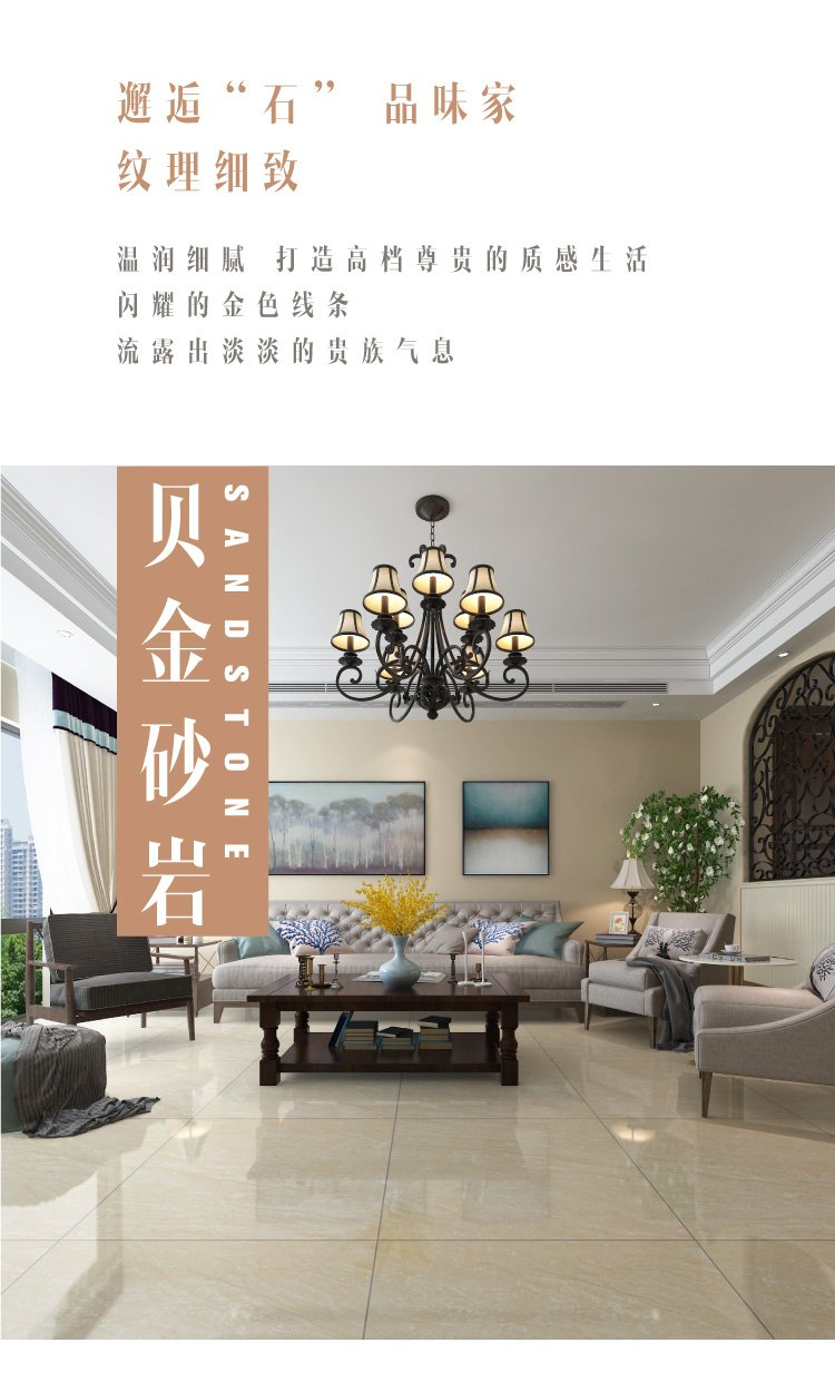 东鹏瓷砖 客厅地板砖瓷砖餐厅地砖卧室全抛釉800x800效果图_5