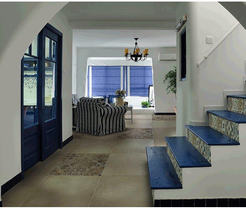 斯米克瓷磚 ?;鹿糯u米棕灰黑藍客廳廚房衛生間600x600地磚效果圖