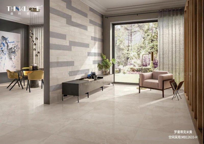 燊科瓷磚新品羅曼蒂雙葉實木家具價格克香檳   意大利的浪漫底色