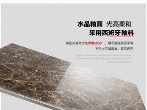 顺辉瓷砖 欧式客厅全抛釉地板砖800x800深色防滑玻化地砖 深啡网效果图