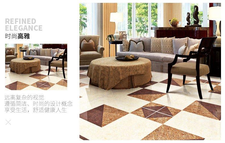 美陶瓷砖风华正茂客厅卧室地砖800x800地板砖防滑玻化砖抛光砖效果图