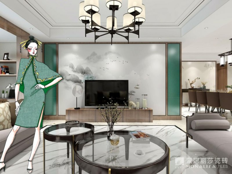 蒙娜丽莎瓷砖装修图片 现代简约风格装修效果图_7