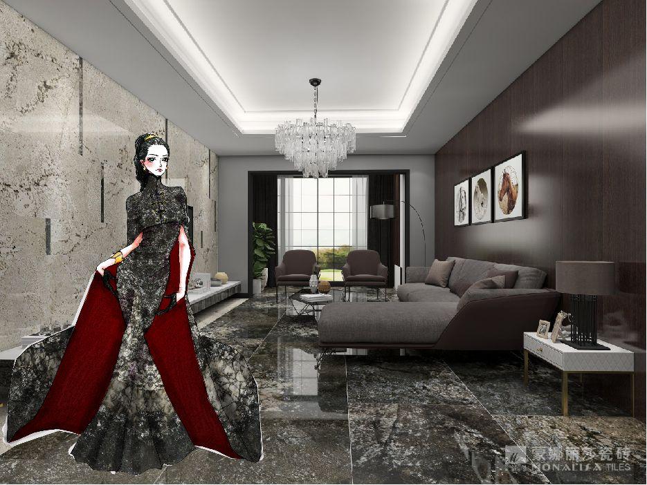 蒙娜丽莎瓷砖装修图片 现代简约风格装修效果图_3