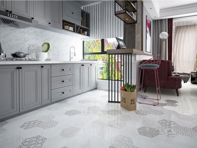 欧神诺大理石瓷砖图片 高级灰系列装修效果图