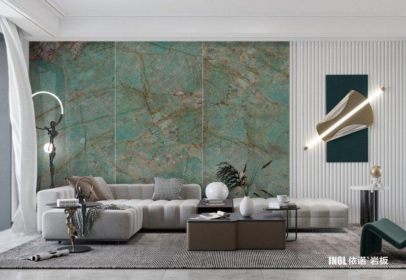 依诺岩板奢石系列「亚马逊翡翠绿」产品图_4