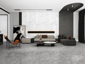 加西亚瓷砖灰白色大理石新品效果图